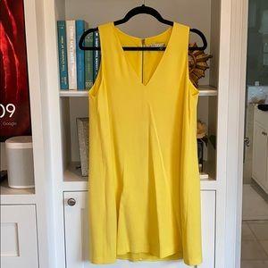 Alice + Olivia Bright Yellow Shift Dress
